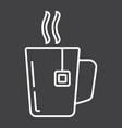 mug of tea line icon business and breakfast vector image