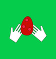 flat icon design collection egg in hands vector image vector image