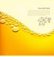 Foamy beer background vector image