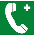First Aid Telephone Safety Sign vector image vector image
