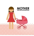 mother vector image