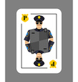 Playing card policeman Conceptual new card police vector image