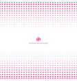 abstract halftone pink color on white background vector image