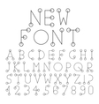 alphabet set with numerals vector image