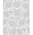 black and white seamless floral texture with vector image