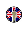 British World War II Soldier Union Jack Flag vector image