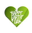 Earth Day Concept Design Happy Earth Day logotype vector image