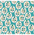 Floral leaves pattern vector image