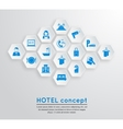 Hotel travel accommodation emblem vector image
