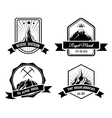Mountain badges vector image