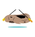 Rafting Boat Cartoon vector image