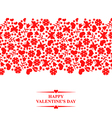 valentine floral red vector image