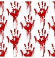 Bloody hand print seamless pattern vector image