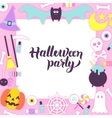 Halloween Party Paper Concept vector image