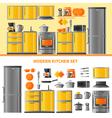 Kitchen Design Concept With Domestic Technique vector image