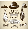Hand Drawn Hipster Design Elements vector image