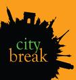 city break color vector image