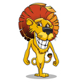 cute smiling lion vector image vector image