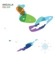 Abstract color map of Anguilla vector image