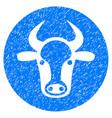 bull head icon grunge watermark vector image