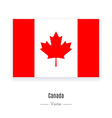 Canada Flag Icon vector image