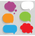 color paper speech bubbles set vector image