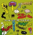 comic book words vector image