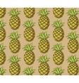 Fresh pineapple pattern vector image