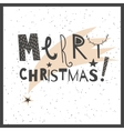 hand drawn lettering sign Merry Christmas vector image