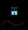 letter N-01 vector image