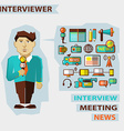 Profession of people Flat infographic Interviewer vector image
