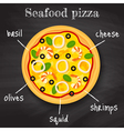 seafood pizza vector image