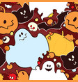 seamless pattern for halloween vector image