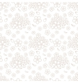 Seamless simple floral pattern vector image
