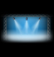 spotlights on the exposition stage vector image
