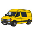Yellow delivery car vector image