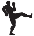 front kick outline vector image