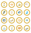 warehouse logistic storage icon circle vector image