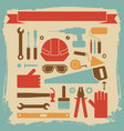 worker equipment background vector image