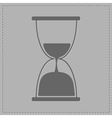 Grey hourglass with sand inside Card vector image