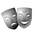 ter comedy and tragedy masks vector image