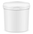 plastic container for ice cream or dessert 02 vector image vector image