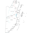 Belize Black White Map vector image
