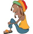 African man rastaman vector image