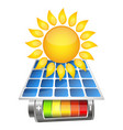 charging the battery from the sun vector image