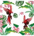Exotic tropical pattern vector image