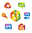 Magic icons vector image