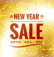 new year sale design vector image