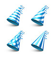 party shiny hat with ribbon holiday decoration vector image