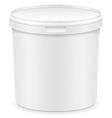 plastic container for ice cream or dessert 02 vector image